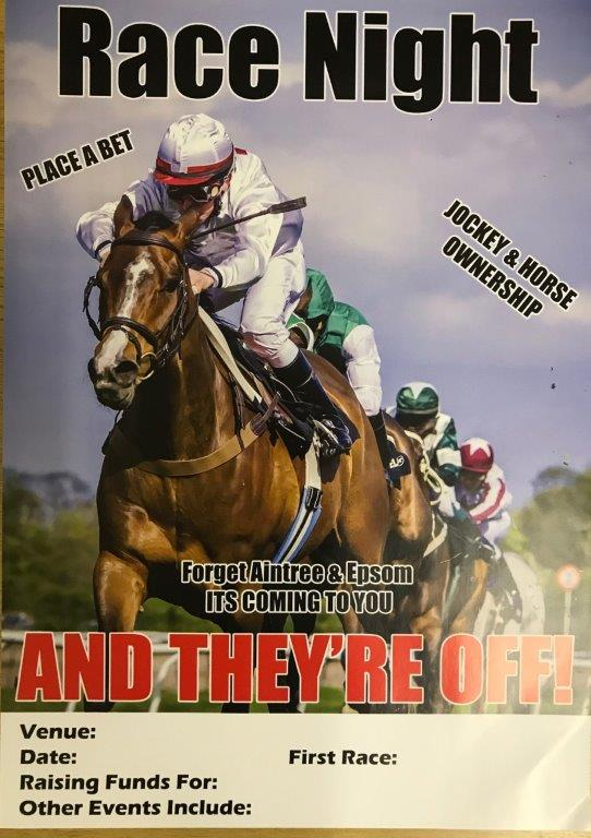 Race Night Compilation DVDs Horse Racing UK Charity Fundraising Ideas