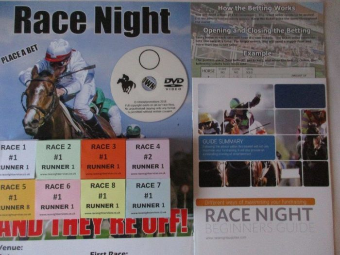 Race Night DVDs Downloads UK Charity Fundraising Ideas
